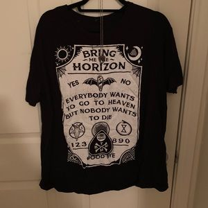 Bring me the Horizon Ouija Shirt and Necklace Duo